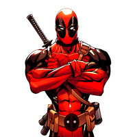 black and white stock Deadpool clipart. Download free png photo