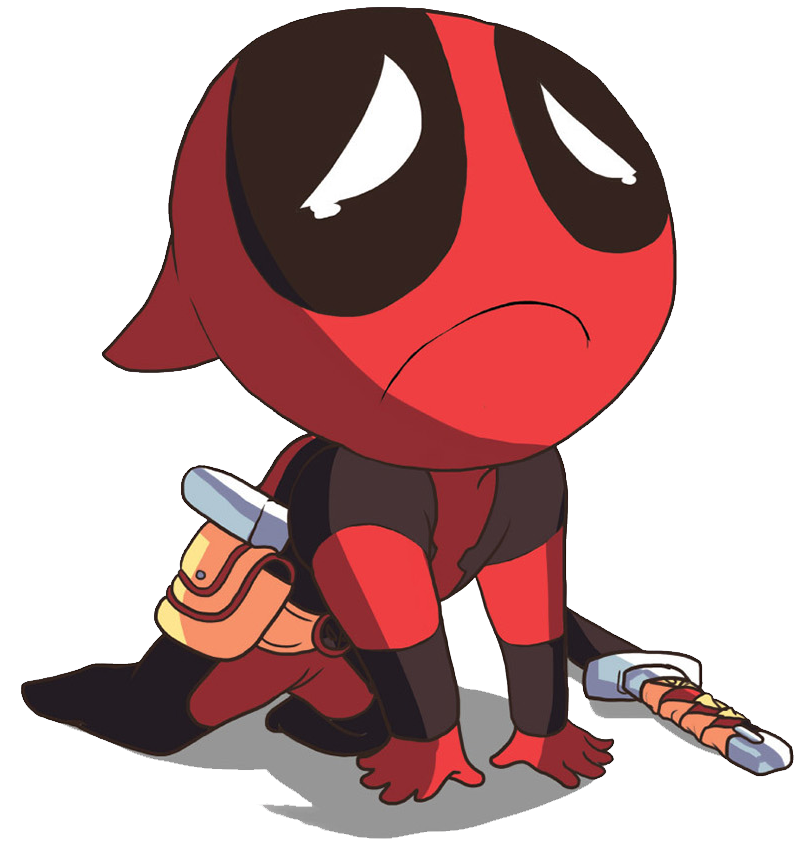 clip black and white download Deadpool Clipart little cute