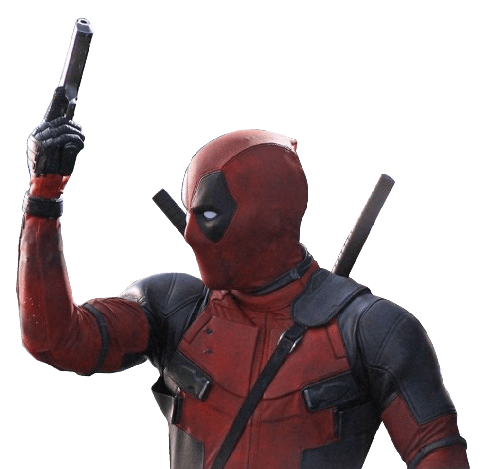 clipart free library Deadpool Holding Gun transparent PNG