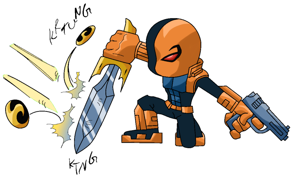 graphic transparent library Deathstroke Deadshot Deadpool Drawing Chibi