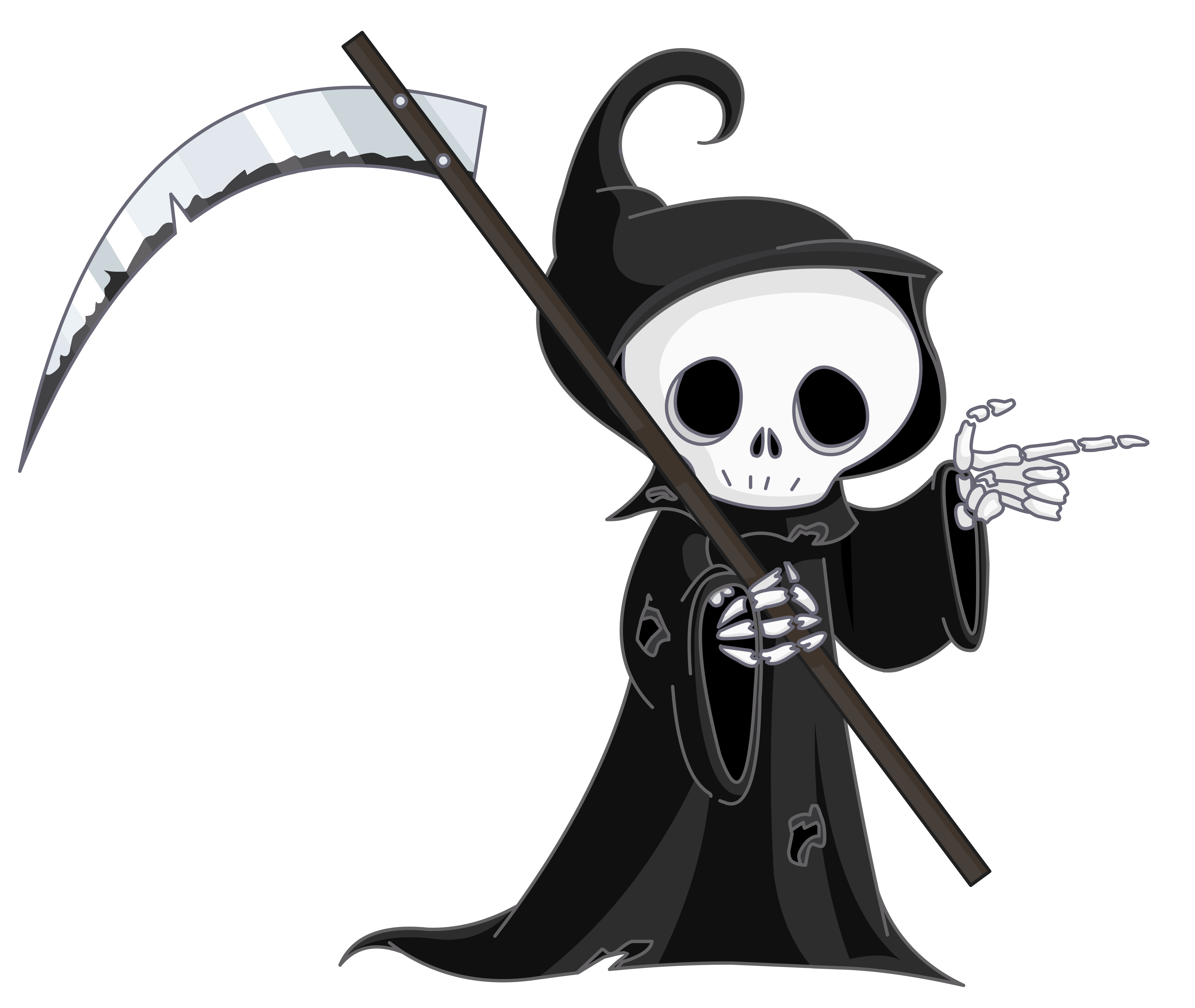banner transparent library Wonderful looking skull death. Grim reaper clipart icon.