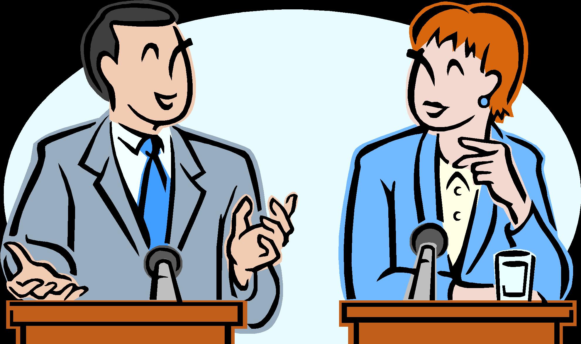 svg black and white download Debate clipart. Debating illustrationen und.