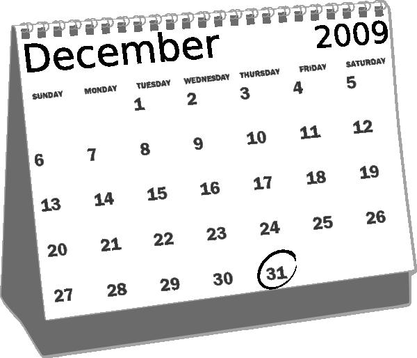 vector black and white stock December clipart black and white. Roystonlodge desk calendar clip