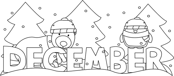 image free stock Clip art . December clipart black and white