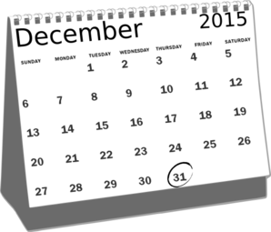 png freeuse library Calendar dec clip art. December clipart black and white