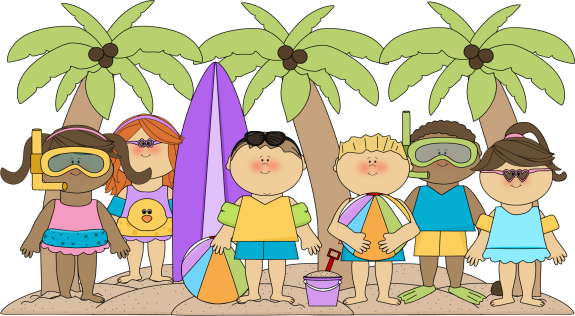 clip art freeuse library Kids at the Beach Clip Art