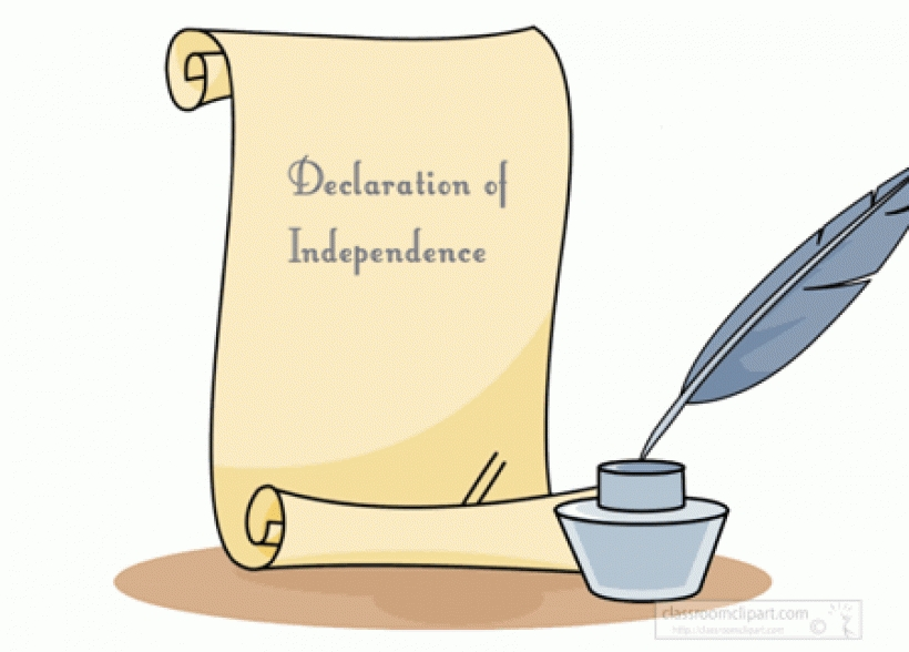 graphic library download Declaration of independence clipart.  clipartlook.