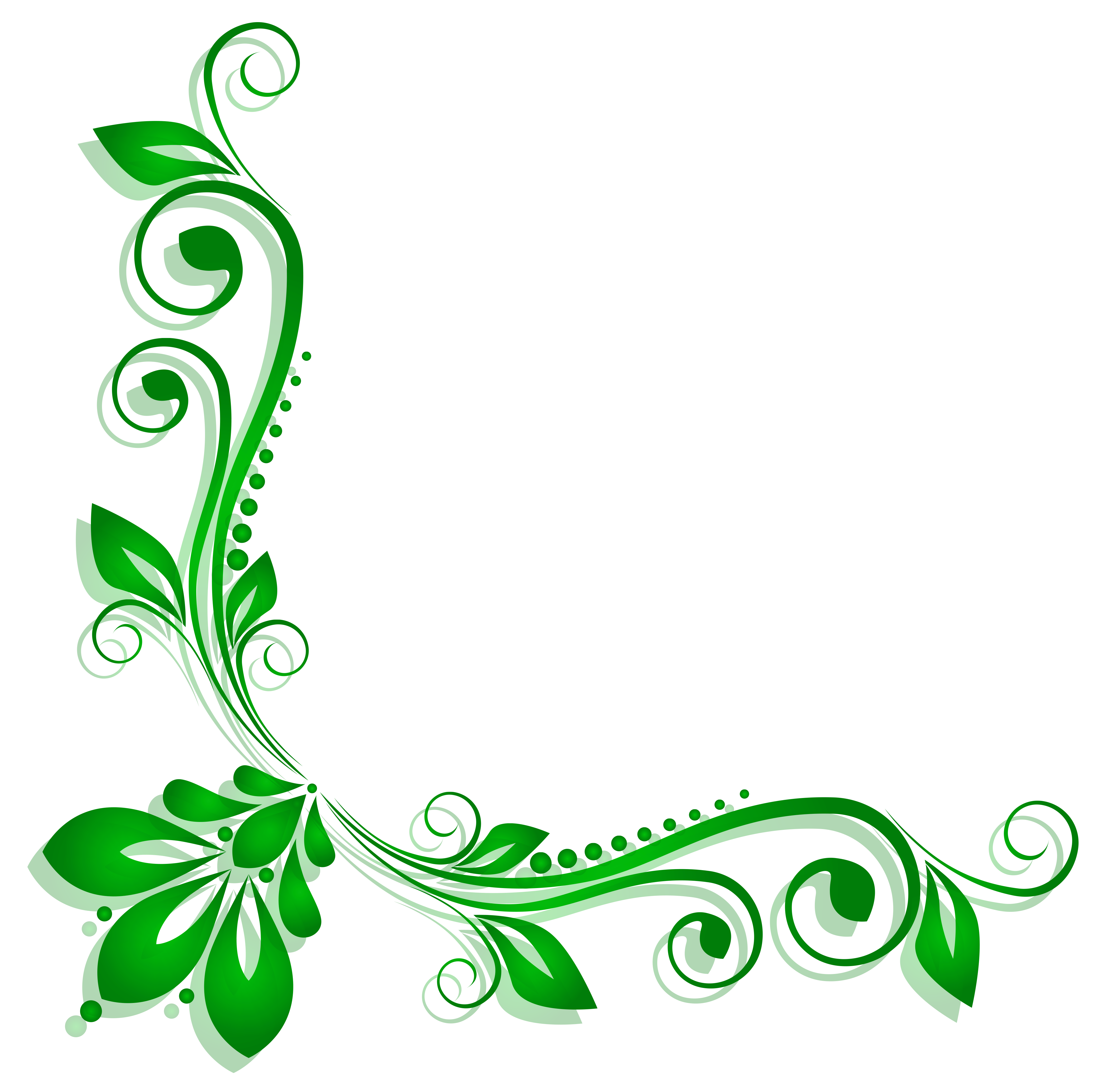 png library stock Green floral png gallery. Deco clipart