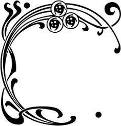 clip art black and white Art nouveau clipart. Free deco cliparts download