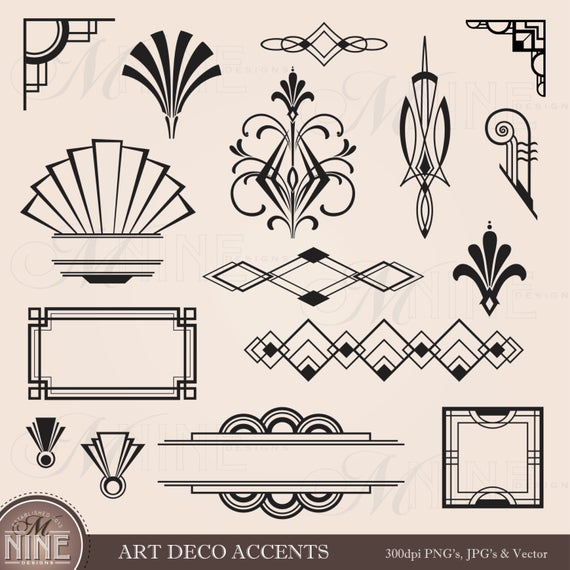 picture royalty free Digital art design elements. Deco clipart