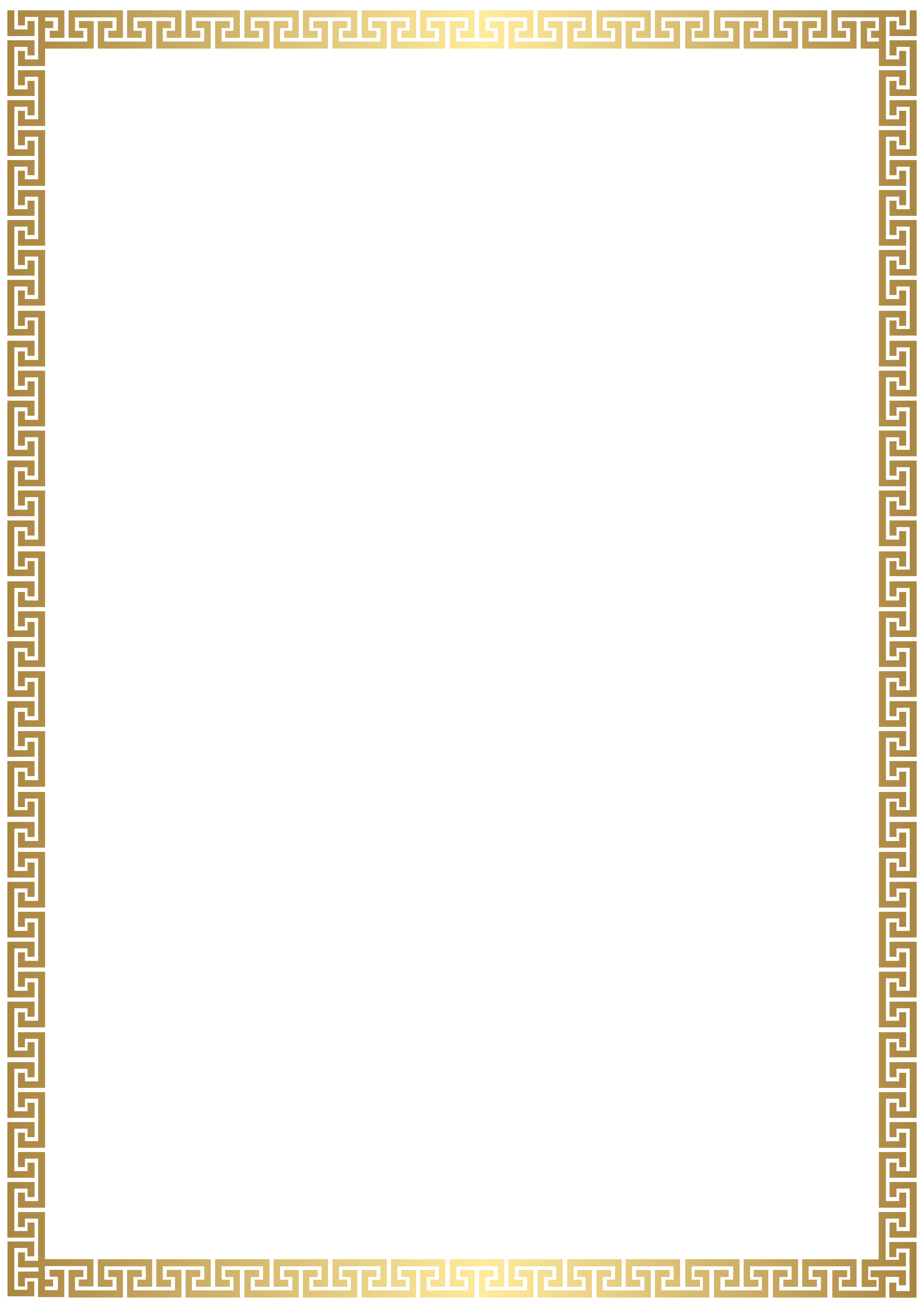 png download Vector certificate high resolution. Golden deco border transparent