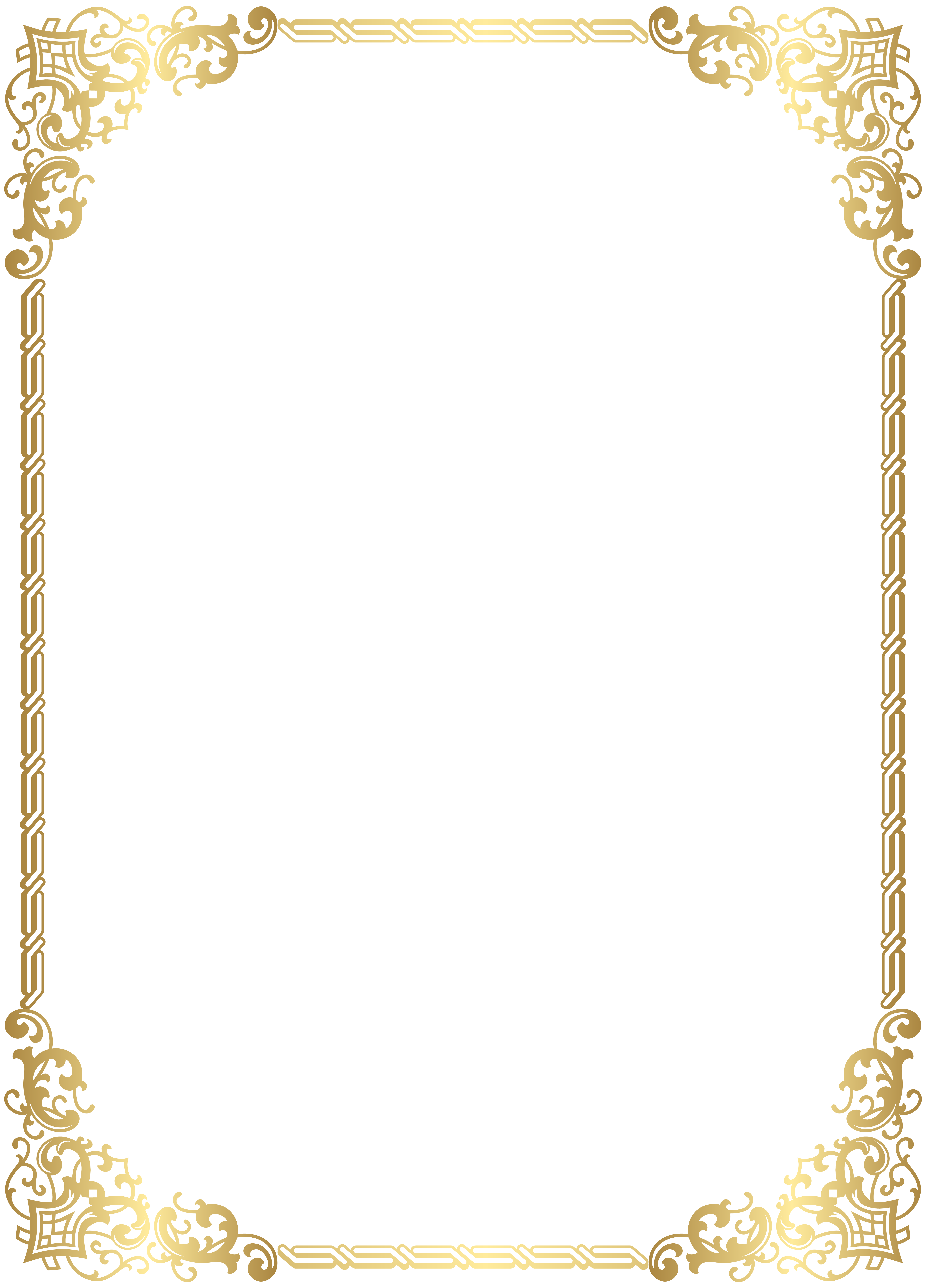 image free stock Gold border frame transparent. Free clipart backgrounds and borders.