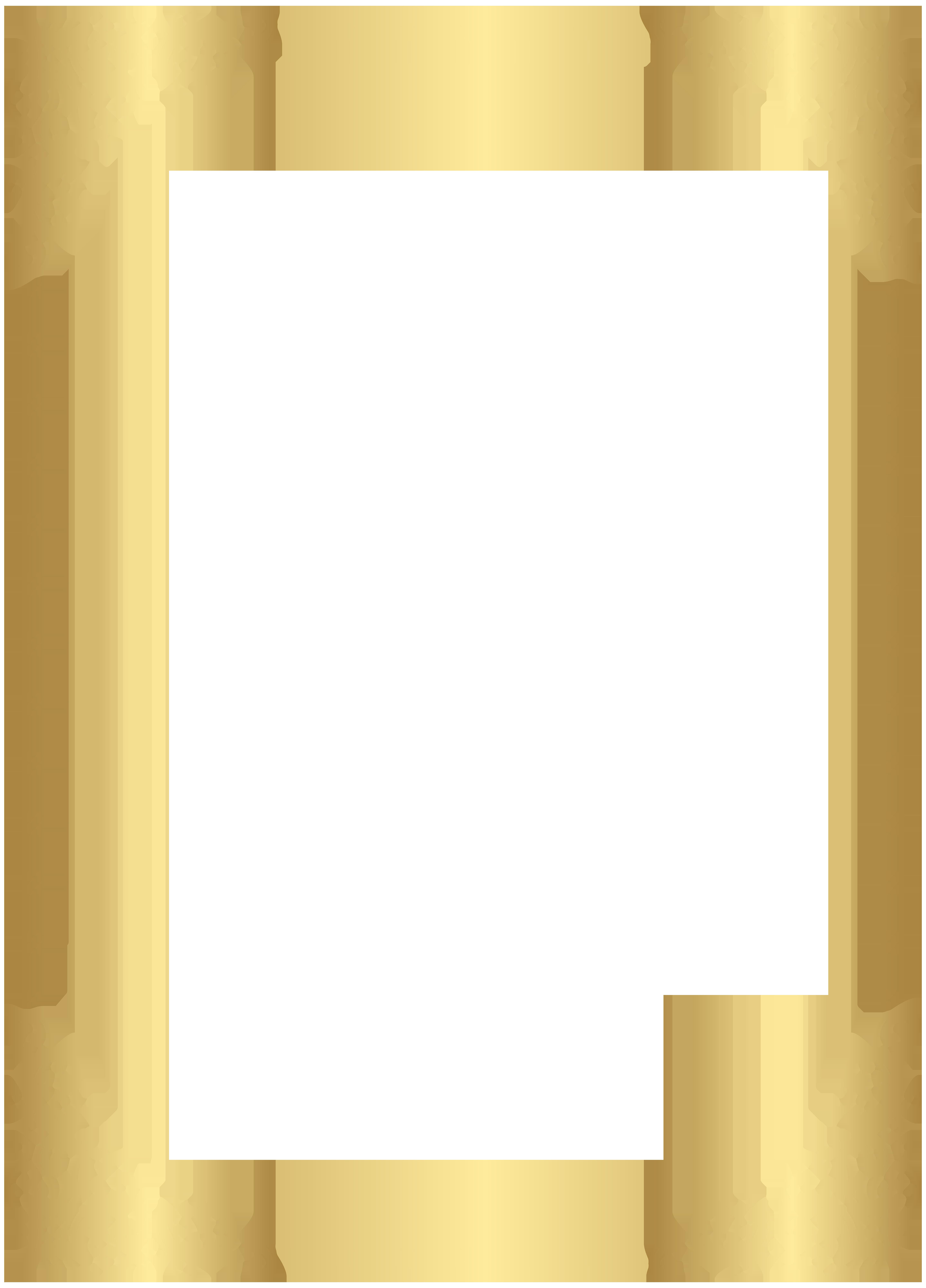 graphic freeuse download Gold Border Frame Transparent Clip Art Image
