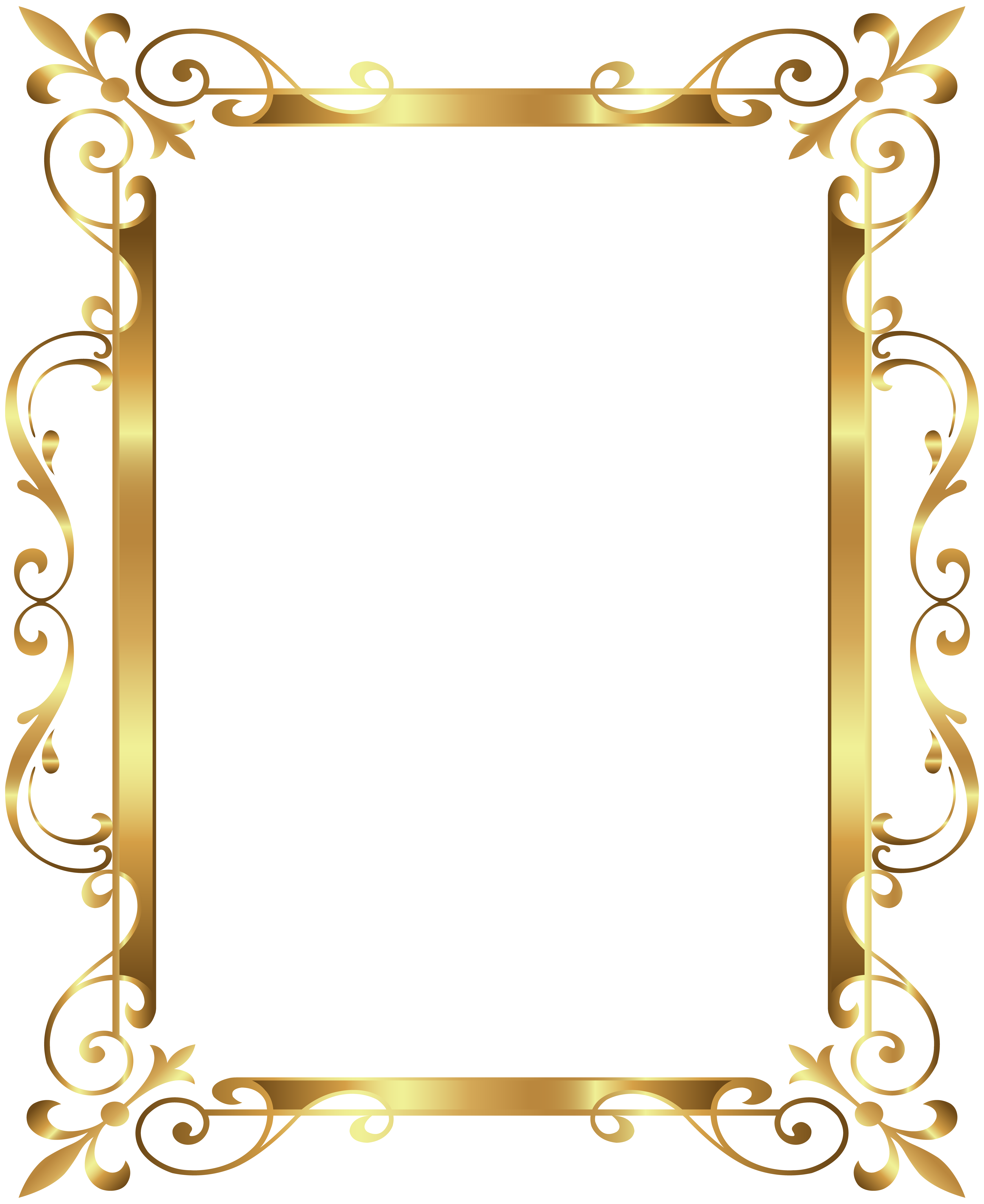 picture library stock Border frame deco transparent. Gold clipart boarder