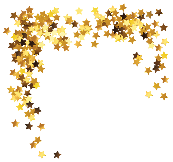image black and white library Gold Stars Decoration PNG Clipart Picture
