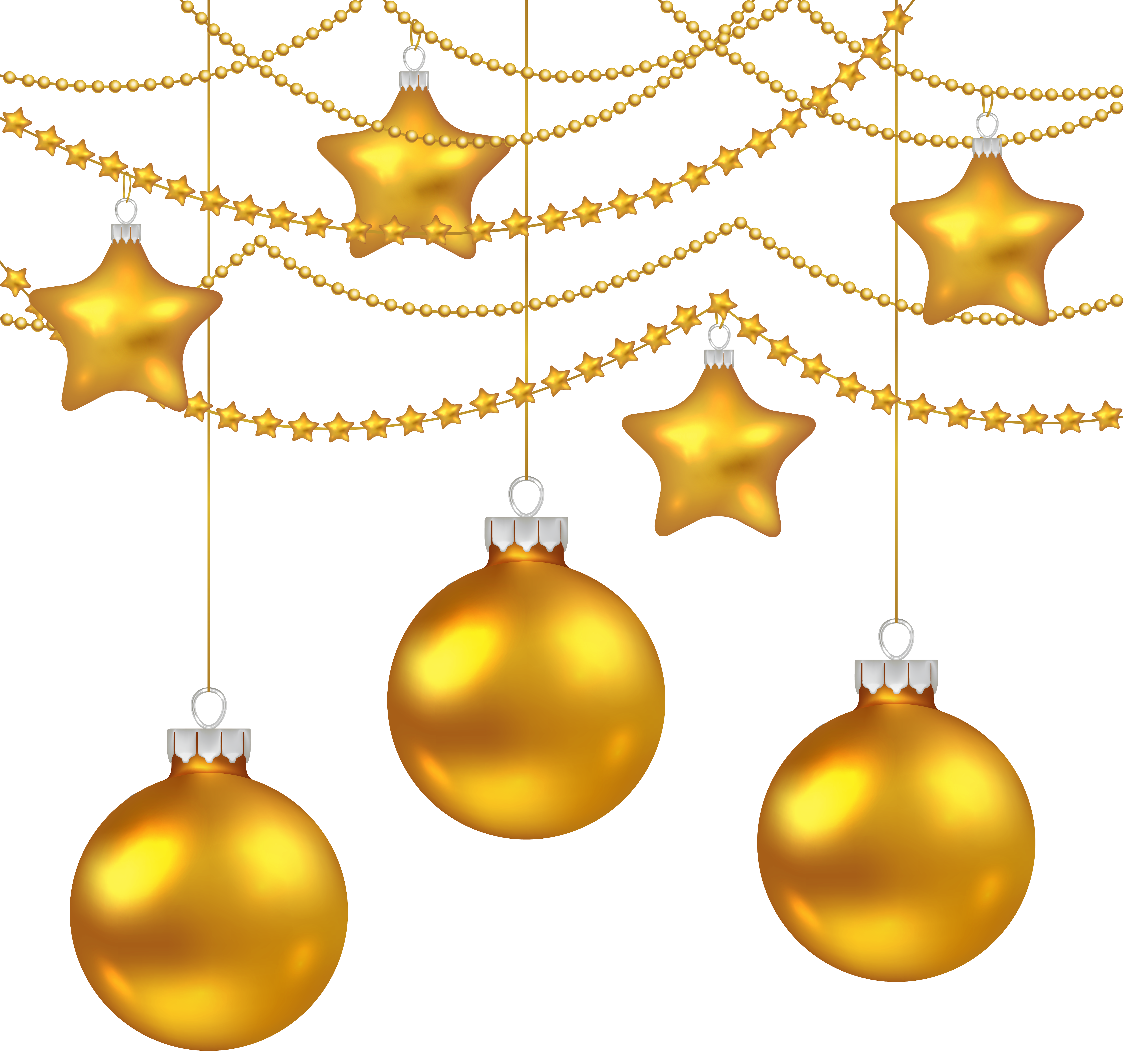 picture freeuse library Decoration clipart yellow. Christmas balls png image.