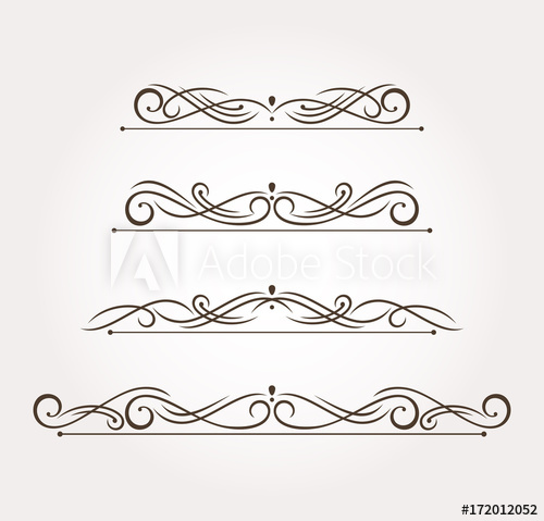 vector freeuse library Set of four fancy. Decoration vector.