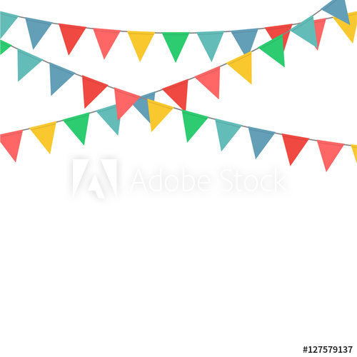 transparent Decoration vector. Bunting flag party buy.