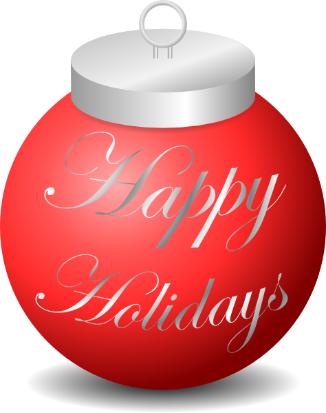 picture freeuse stock Decorations clipart holiday ornament. Happy holidays clip art.
