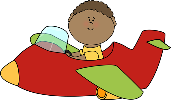 clipart free stock Kid Flying an Airplane Clip Art