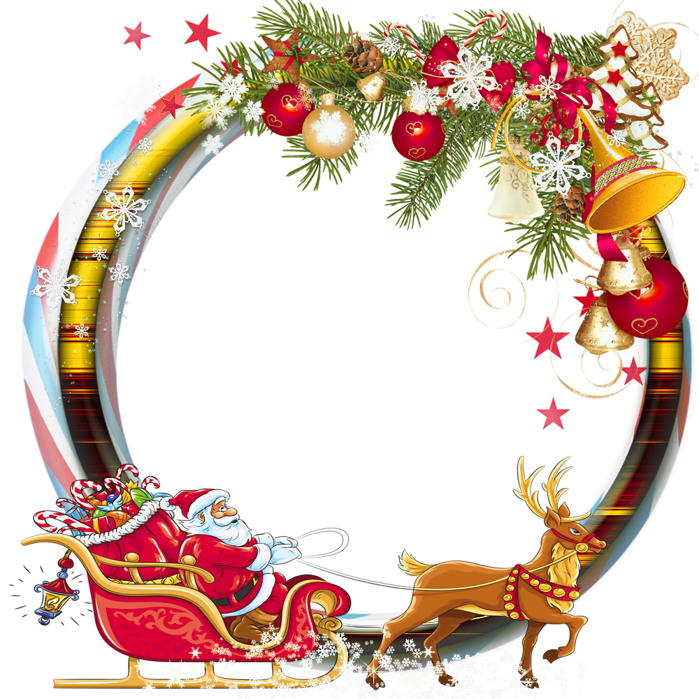picture black and white library Round transparent png photo. Clipart christmas borders and frames