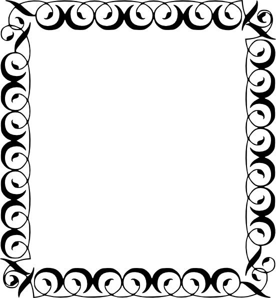 clip black and white stock Free borders clipart. Decorative border clip art