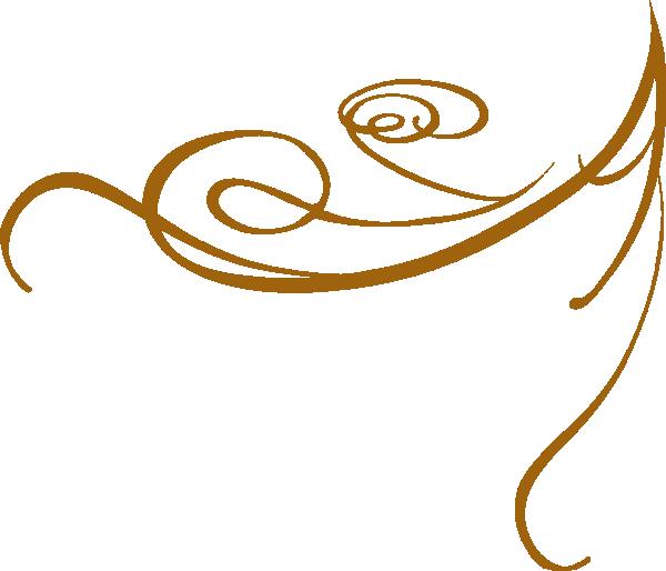 free stock Scrollwork clipart letterhead. Gold swirls png decorative