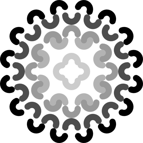 image black and white library Grayscale Flower Decoration Clip Art at Clker