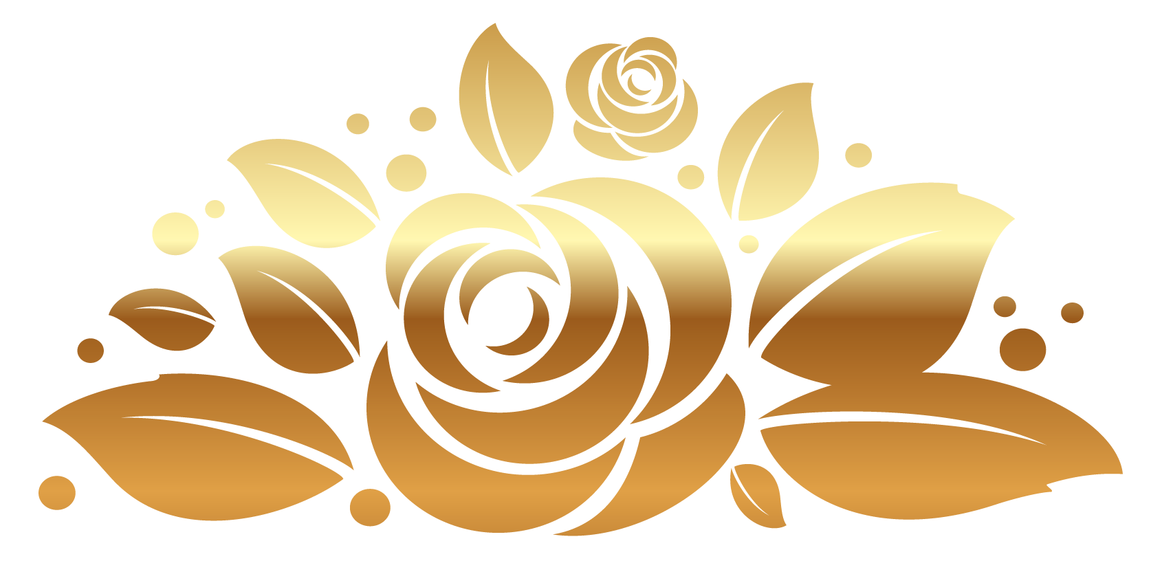 svg black and white download Gold rose decor png. Golden clipart