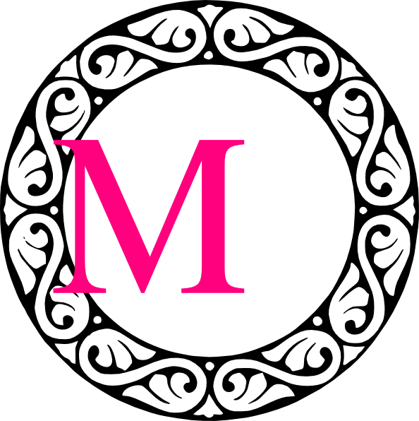 image black and white library Letter M Clip Art at Clker