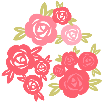 svg royalty free library Rose Set SVG cutting file for scrapbooking free svg cuts free svgs