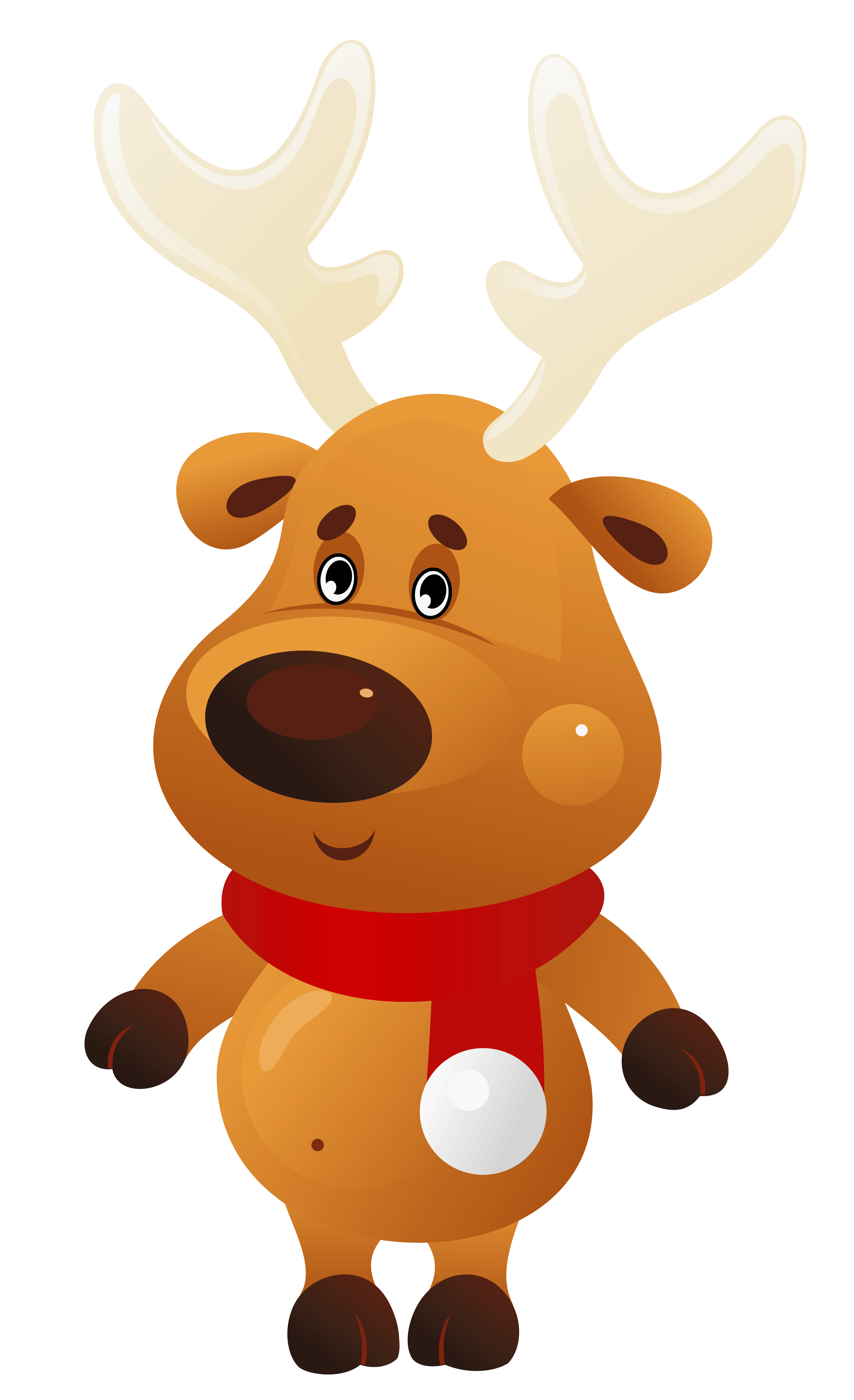jpg library stock Goofy clipart reindeer. Cute christmas with red