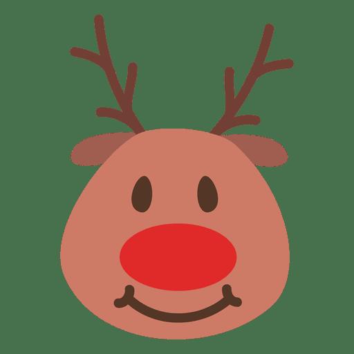image library download Smile reindeer face emoticon