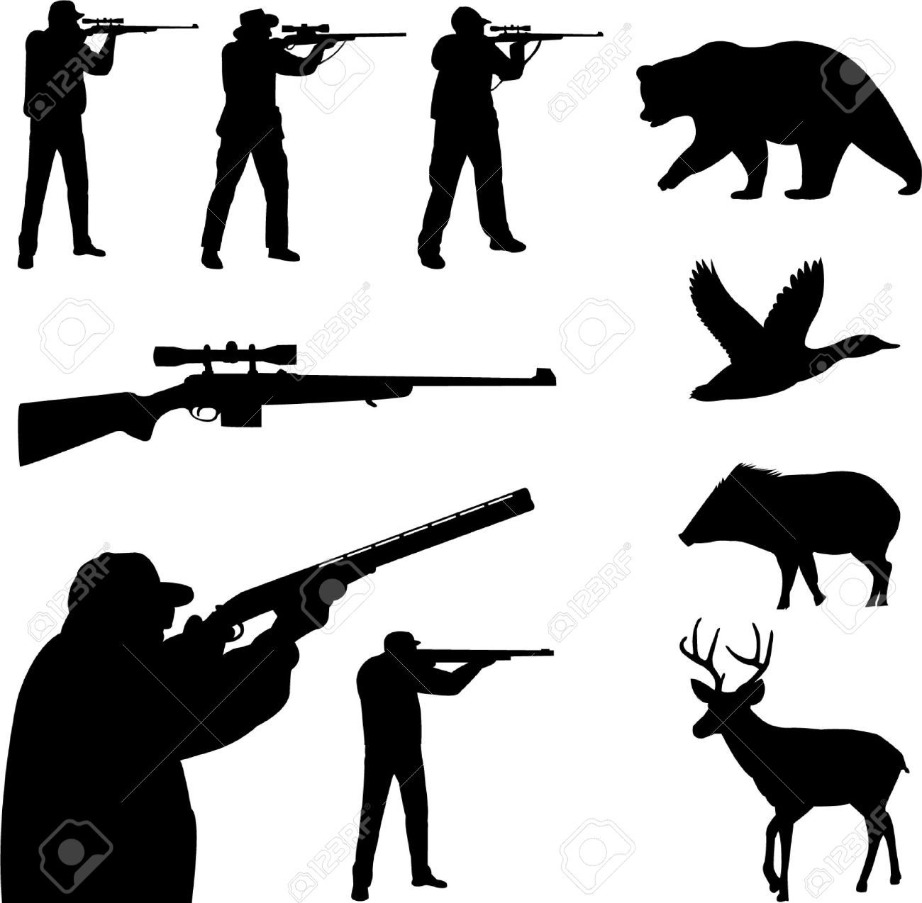 picture free download Hunting vector. Deer cliparts stock and