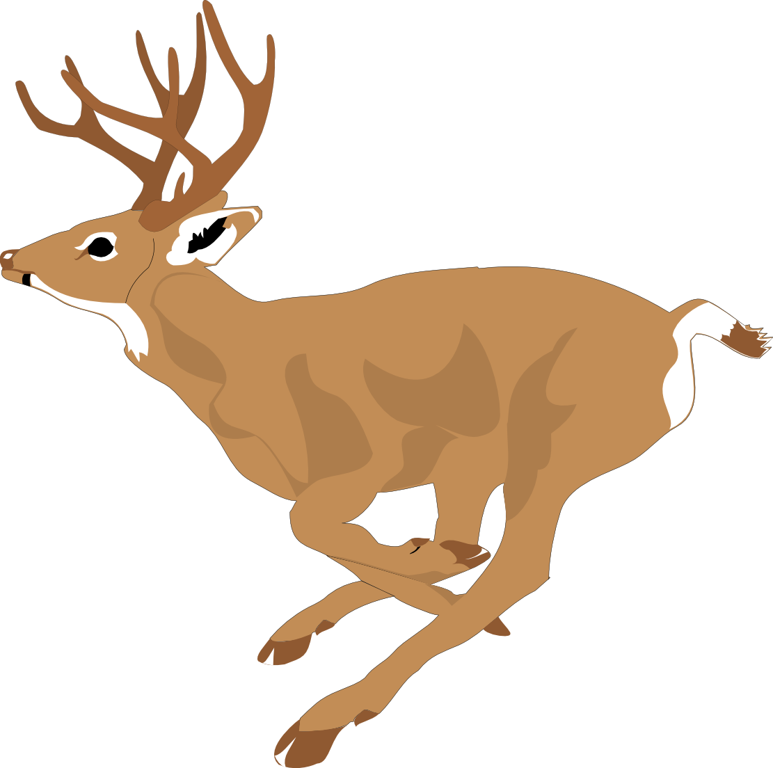 svg black and white stock Deer Clipart Free at GetDrawings
