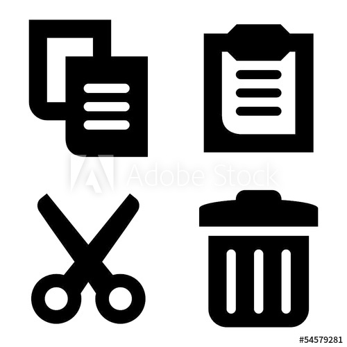 svg library download Delete vector. Copy paste cut and.