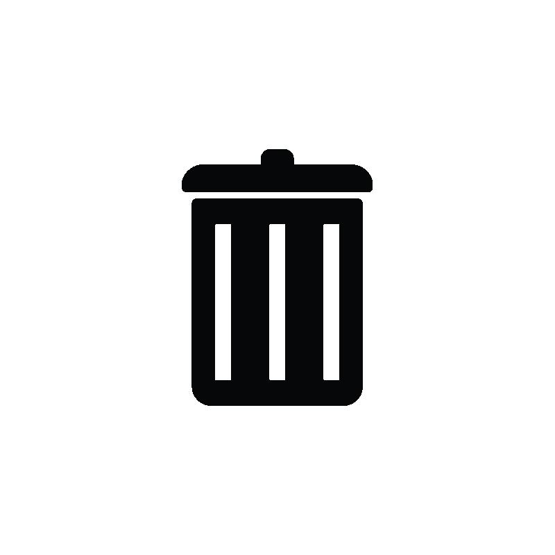 freeuse stock Dustbin recycle trash icon. Delete vector.