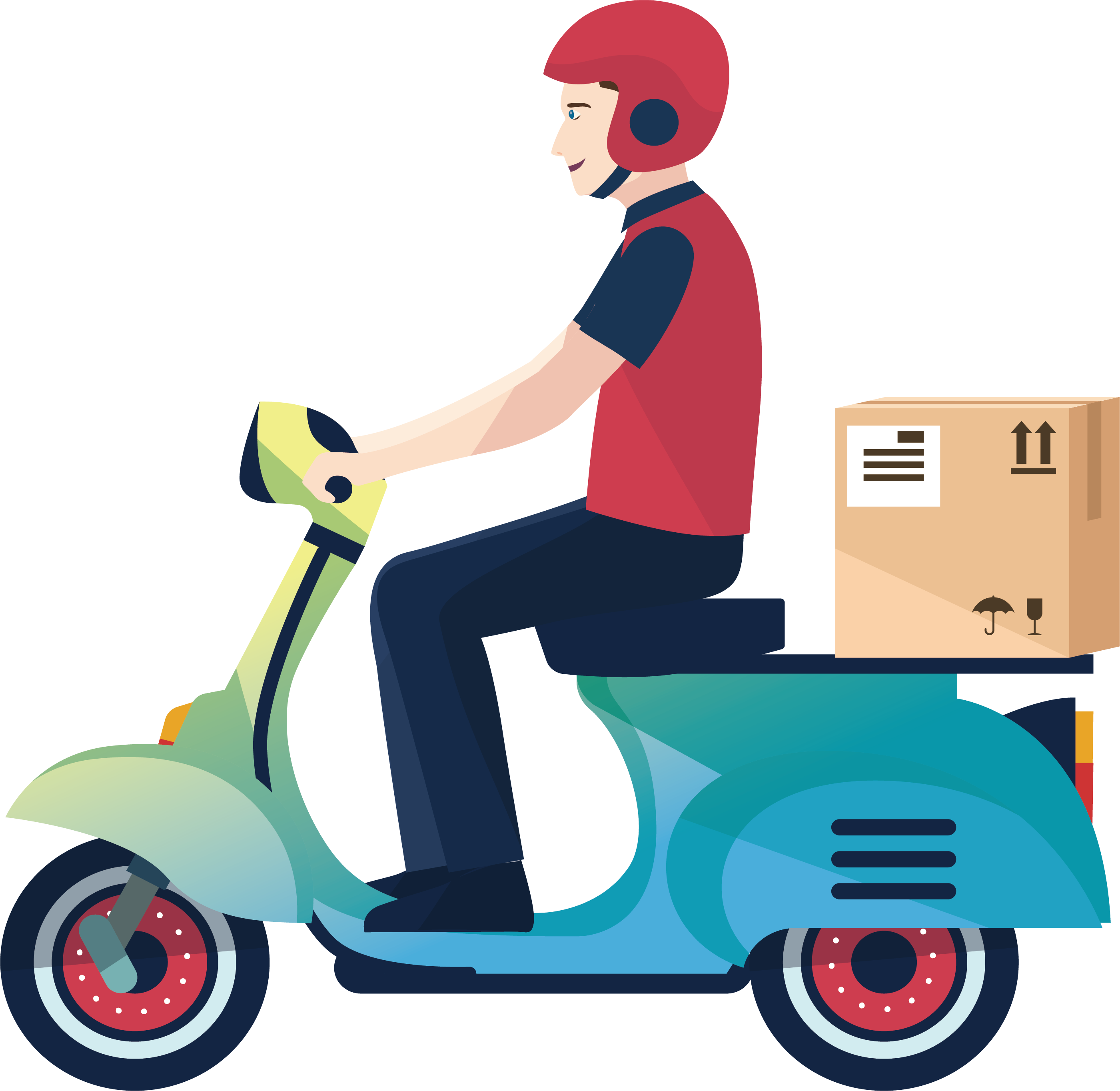 clip art transparent library Delivery clipart courier boy. Motorcycle logistics service a