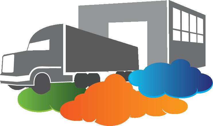 vector free stock Distribution Cloud ERP