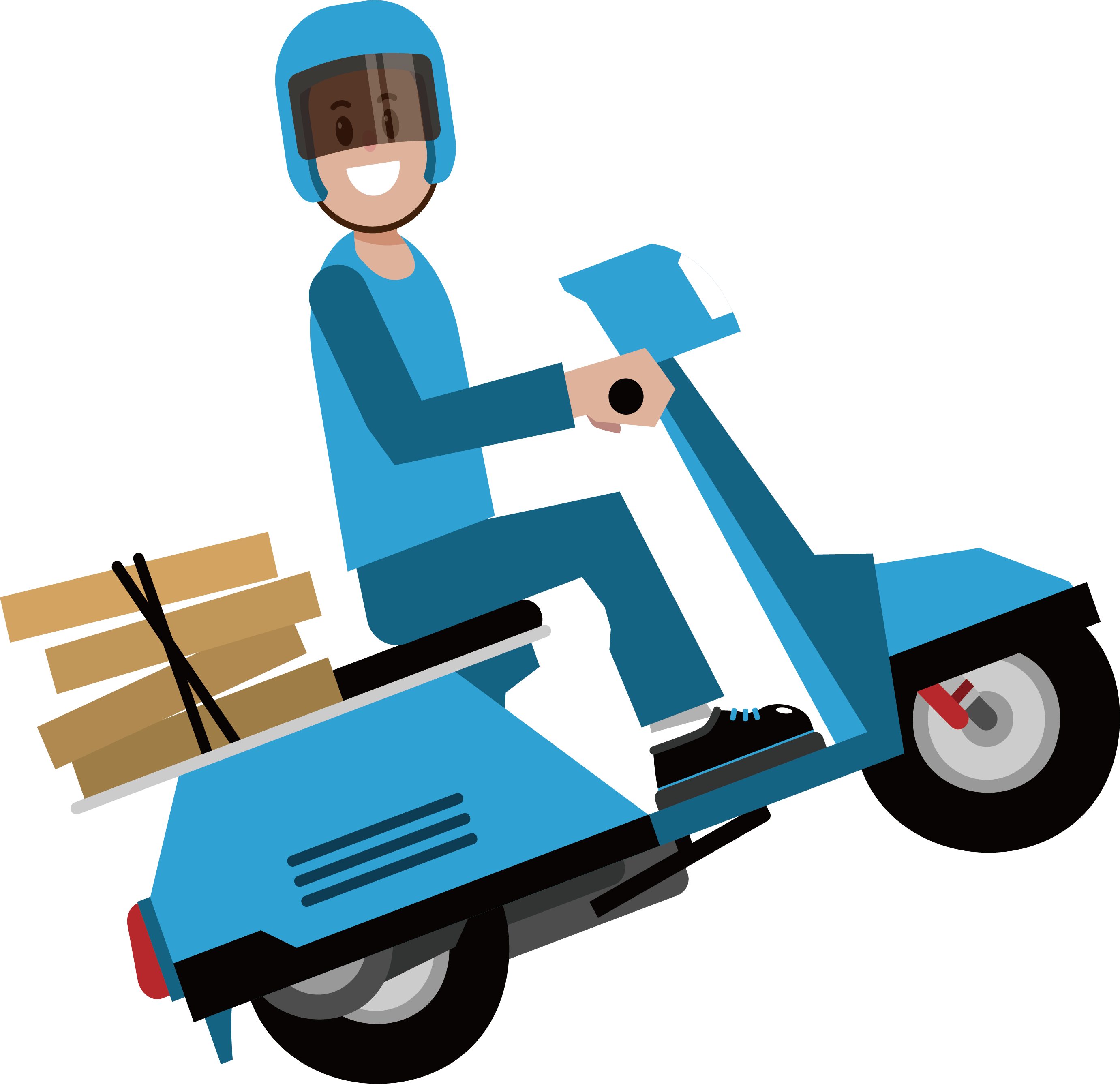 png royalty free Delivery Courier
