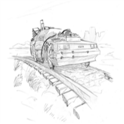 picture freeuse download delorean drawing bttf 3 #133574661