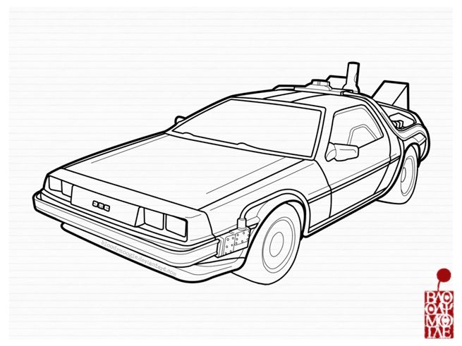 png royalty free stock Delorean