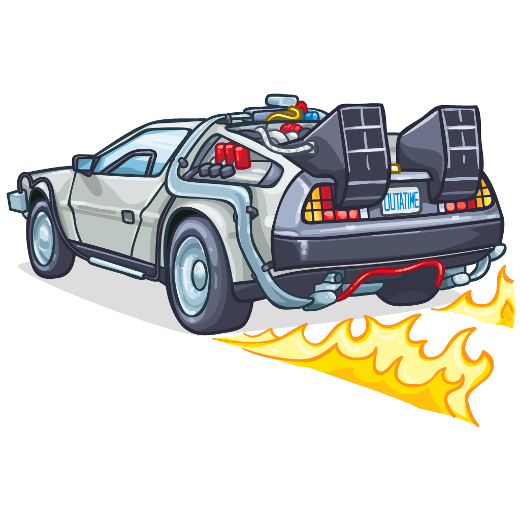 svg stock delorean drawing decal #93197961