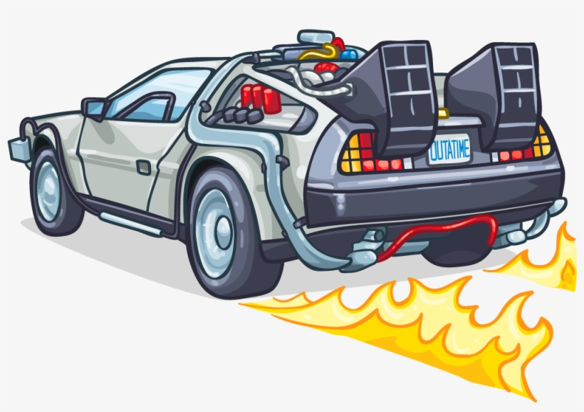 banner library stock Svg Stock Delorean Drawing Decal