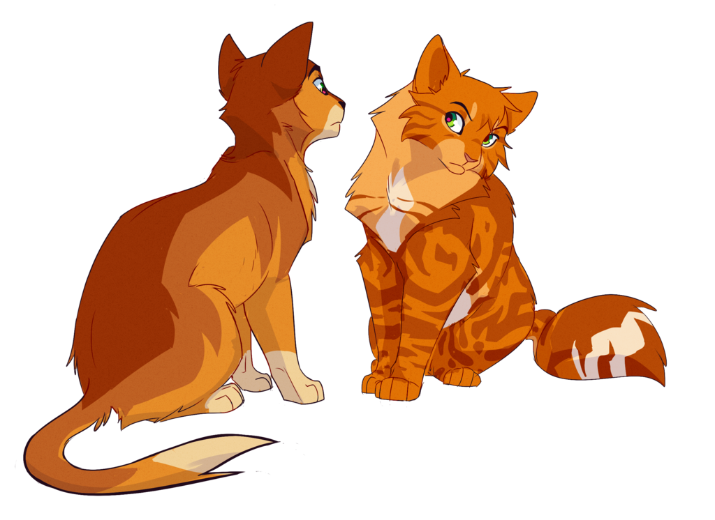 clipart black and white stock Firebounce and Firestar by meow