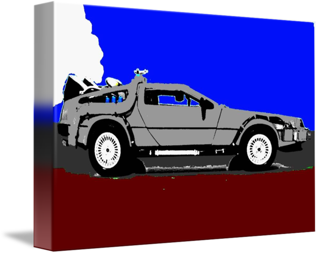 picture black and white stock Back to the Future Delorean Shadow Color by Paul Van Scott