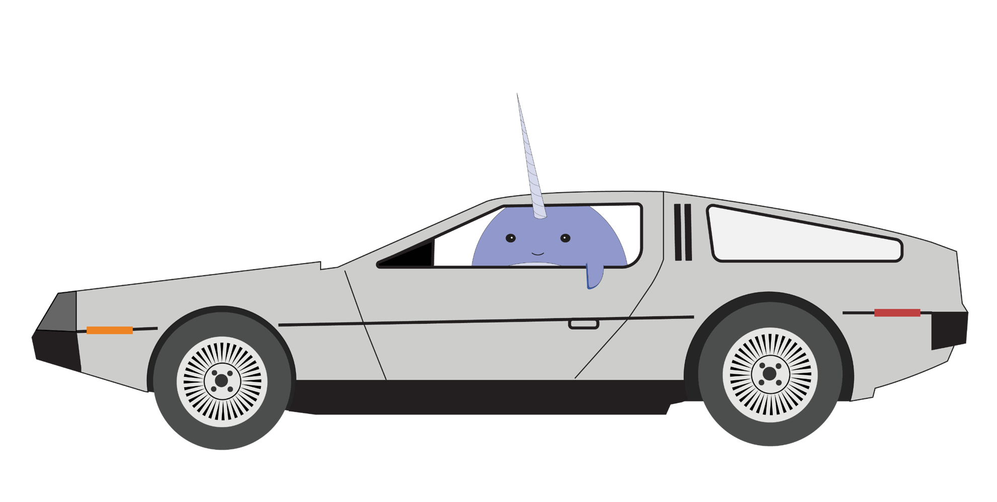 clipart freeuse download delorean drawing outline #93195118