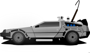 banner freeuse stock Car delorean by