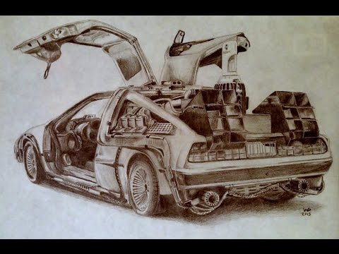 png stock delorean drawing time machine #133574548
