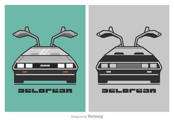 png royalty free library Free DeLorean Vector Illustration in